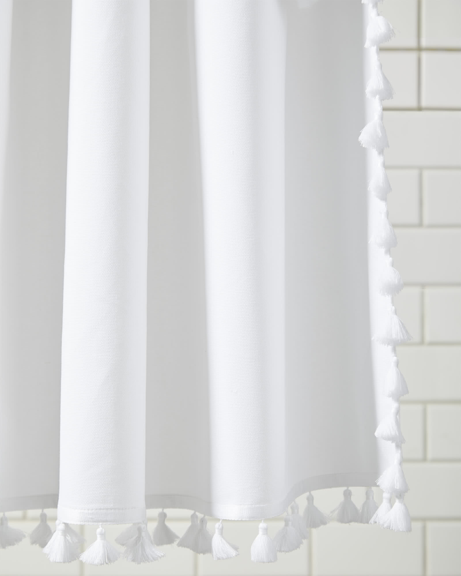 French Tassel Shower Curtain,